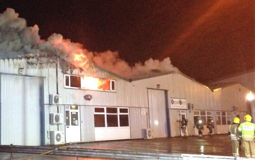 Fire at RepairTech